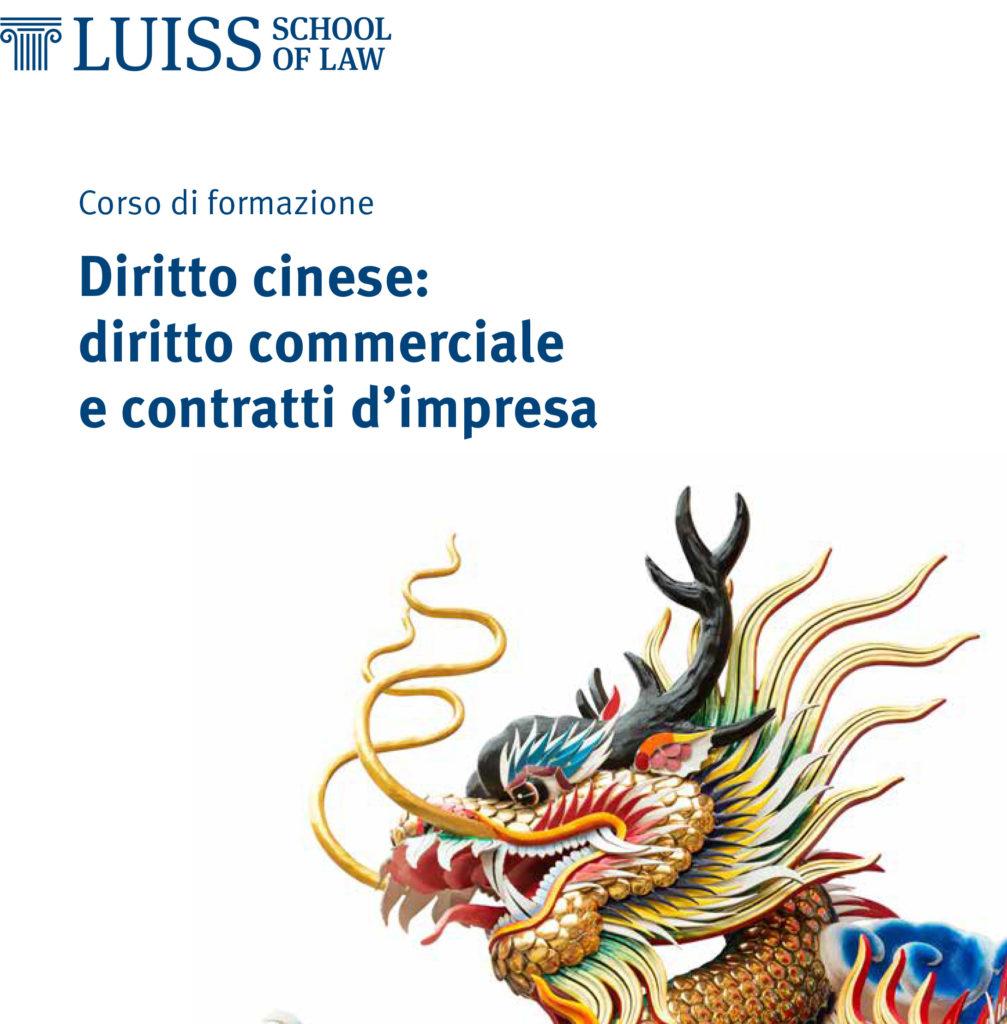 Corso formazione diritto cinese
