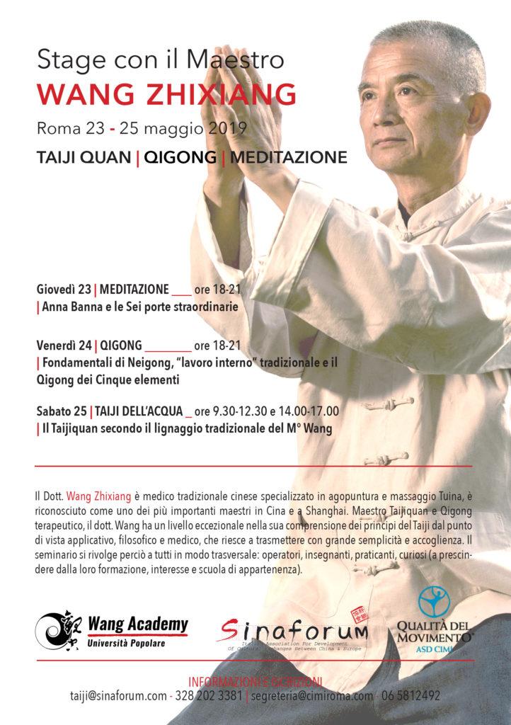 Stage con il Maestro Wang Zhixiang
